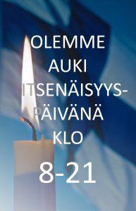 Oulun III Hansa Apteekki» » Itsenäisyyspäivän aukioloajat 73e9e562e5